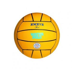 Balón de waterpolo caucho Amarillo Amaya