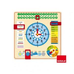 Juego didáctico Reloj calendario Diset