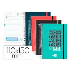 Agenda Escolar 17-18 Dia por pagina Mini 11x15 cm Bilingüe Polipropileno Liderpapel College No se puede elegir color