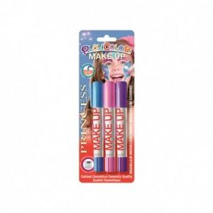 Barra de maquillaje Playcolor Princesa 3 unidades