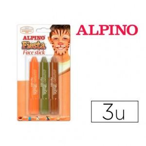 Barra maquillaje 3 colores tonos tierra marca Alpino Face Stick Fiesta