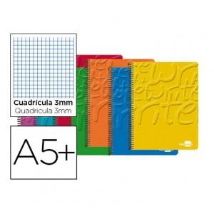 Bloc Cuarto espiral Tapa cartoncillo impreso serie Classic Liderpapel 3mm