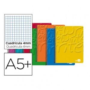 Bloc Cuarto espiral Tapa cartoncillo impreso serie Classic Liderpapel 4mm