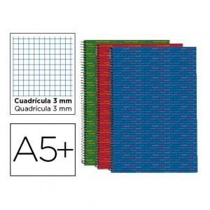 Bloc Cuarto espiral Tapa forrada serie Multilider Liderpapel 3mm