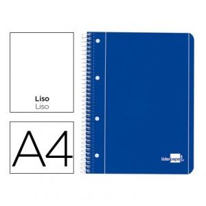 Bloc Din A4 espiral Microperforado Tapa azul Liderpapel