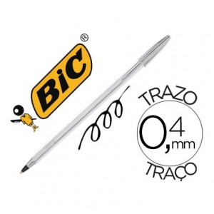Boligrafo Bic Cristal Celebration Plata Tinta Negra
