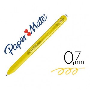 Boligrafo Paper Mate Inkjoy Retractil Gel 0,7 mm Color Amarillo