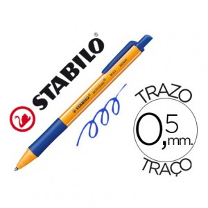 Boligrafo Stabilo Pointball azul 0,5 mm