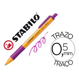 Boligrafo Stabilo Pointball lila 0,5 mm