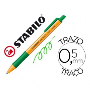 Boligrafo Stabilo pointball verde 0,5 mm