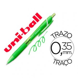 Boligrafo Uni-Ball roller SXN157C Jetstream color verde claro 0,35 mm