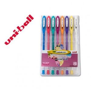 Boligrafo marca Uni ball UM-120 8 colores pastel
