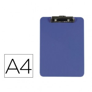 Portanotas Q-connect Din A4 azul de 3mm