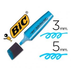 Rotulador Bic fluorescente azul