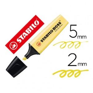 Rotulador Stabilo Boss Pastel Amarillo Cremoso