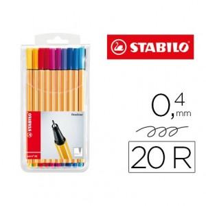 Rotulador Stabilo Point 88 Estuche 20 Colores