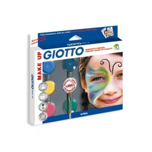 Set Giotto make up sombra cosmetica +pincel+esponja+guia maquillaje