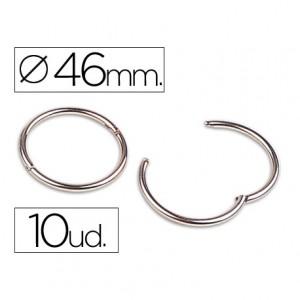 Anillas bisagra Liderpapel niqueladas n.5 diametro 46 mm
