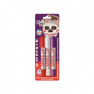 Barra de maquillaje Playcolor Zombie 3 unidades