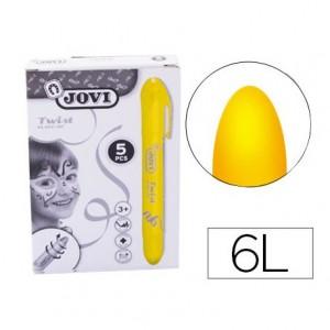 Barra maquillaje amarillo marca Jovi Twist Make-UP. Caja de 5 unidades