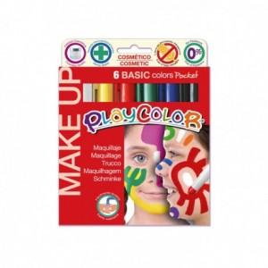 Barra de maquillaje Playcolor Basic 6 colores surtidos