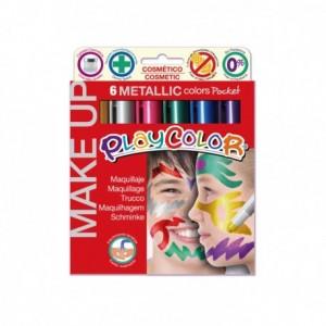 Barra de maquillaje playcolor metallic 6 colores surtidos