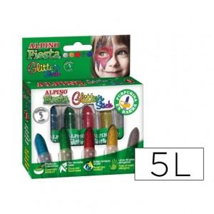 Barra maquillaje Alpino Glitter 5 colores