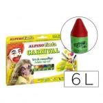 Barra maquillaje Alpino carnaval caja de 6 colores surtidos