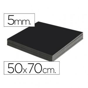 Carton pluma Liderpapel doble cara negro 50 x 70 cm
