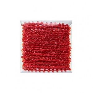 Hilo con perlas rojo 4,5 mt itKrea