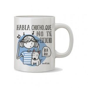 Taza ceramica love&child habla chucho que no te escucho de 300 cl
