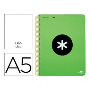 Bloc Antartik A5 Liso tapa Polipropileno 100g m2 Verde 5 bandas color