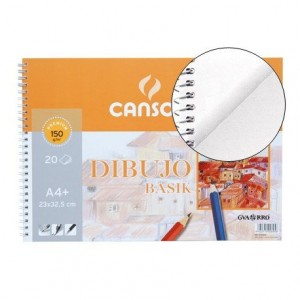 Bloc dibujo Canson din a4 gramaje 150 g m2
