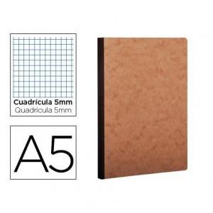 Libreta Clarefontaine A5 tapa cartulina impresion cuadriculado 5mm 96 hojas