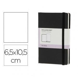 Libreta marca Moleskine organizadora negro 6,5x10,5 cm