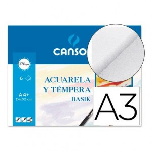 Papel acuarela Canson A3 gramaje 370 g m2