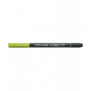 Rotulador Lyra aqua brush acuarelable doble punta fina y pincel verde manzana