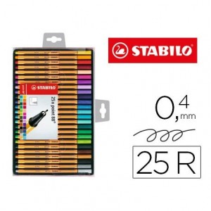 Rotulador Stabilo Point 88 Estuche 25 Colores