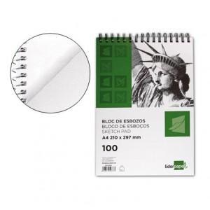 Bloc Liderpapel de dibujo esbozos medidas 210x297mm