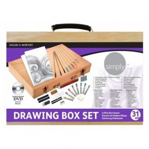 Set de dibujo Daler Rowney de madera 31 piezas