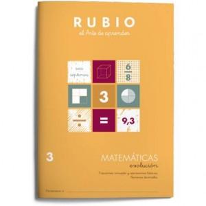 Cuaderno Rubio Matemáticas nº 3 Fracciones concepto y operaciones básicas. Números decimales