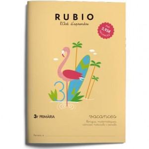Cuaderno Rubio Vacances 3º Primaria en Catalán