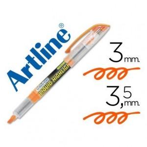 Rotulador Artline EK-640 Fluorescente color Naranja Punta biselada