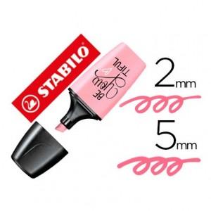 Rotulador Stabilo Boss Mini Pastellove color Rubor Rosa