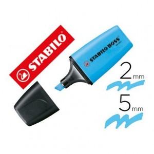 Rotulador Stabilo Boss fluorescente mini Color azul
