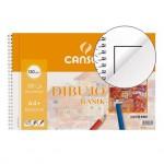 Bloque de dibujo DIN A4 espiral Basik Canson Con Recuadro