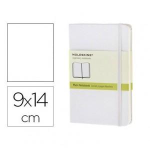 Libreta Moleskine tapa dura liso color blanco 9x14 cm
