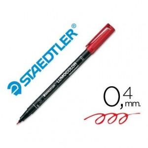 Rotulador Retroproyección Permanente Staedtler Lumocolor 313 Color Rojo Punta Superfina Redonda