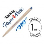 Boligrafo Borrable Paper mate Replay III con goma incorporada color azul 1 mm