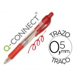 Boligrafo retractil Q-Connect Rojo 0,7 mm
